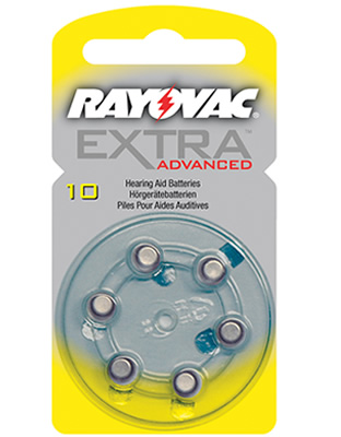 Rayovac Extra Advanced size 10 (σε κουτάκι των 6)