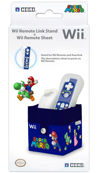 WII REM.LINK STAND+SKIN SUP.MARIO ΜΠΛΕ