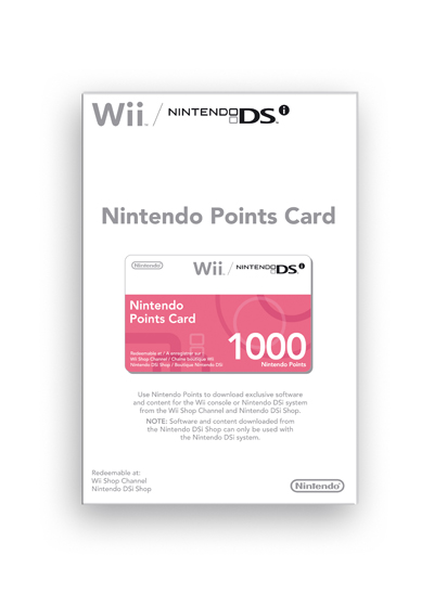 NINTENDO POINTS CARD 1000 POINTS