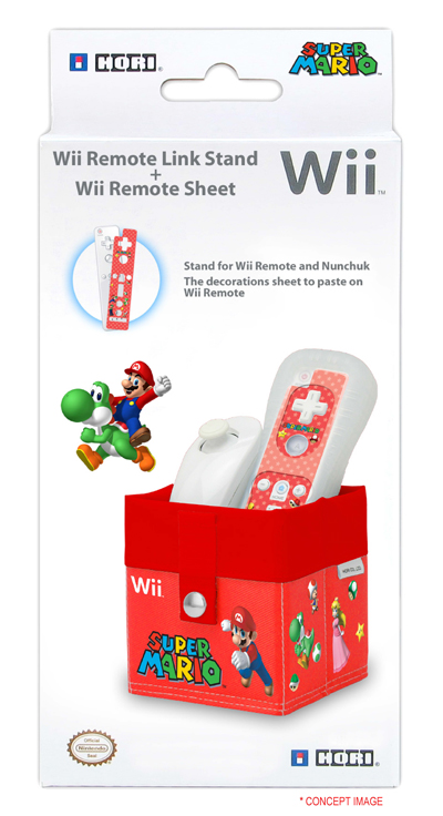 WII REM.LINK STAND+SKIN SUP.MARIO ΚΟΚΚΙΝΟ